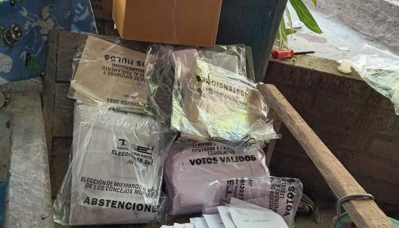 Denuncian hallazgo de papeletas marcadas con votos a favor de Nuevas Ideas de Chalatenango